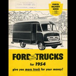 1954 FORD Parcel Delivery Vans Sales Catalog-Brochure