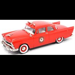 Plymouth Plaza 2 Door Club Sedan 1956 Fire Chief's car - Brooklin 1:43 Diecast