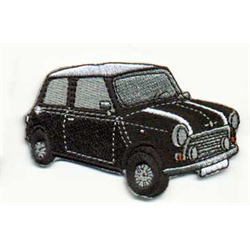 """Embroidered Patch """"Mini"""" black"""