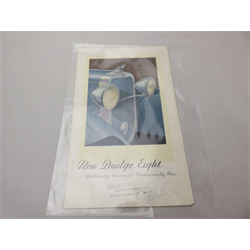 1931 Dodge Eight Sales Catalog-Brochure