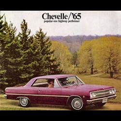 1965 CHEVROLET Chevelle Full-line American Sales Catalog-Brochure