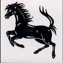 """Sticker """"Ferrari Horse""""   3.5"""" x  3.5"""""""