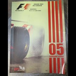2005 Grand Prix du Canada, Montreal Official Racing Program