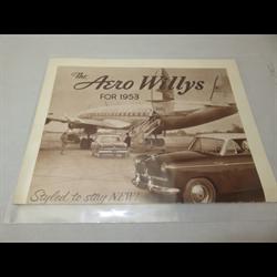 1953 WILLYS Aero Sales Catalog-Brochure
