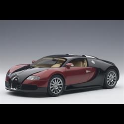 Bugatti EB 16.4 Veyron black, red metallic AUTOart 1:18 Diecast