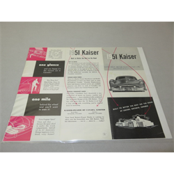1951 Kaiser Sales Catalog-Brochure