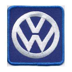 """Embroidered Patch """"VW"""" 3 """" Dia."""