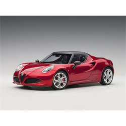 Alfa Romeo 4C Spider competition red AUTOart 1:18 Diecast