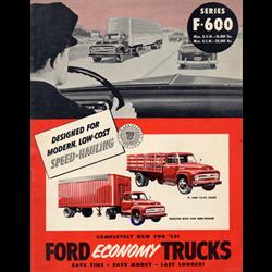 1953 FORD F600 Trucks Full-line Sales Catalog-Brochure