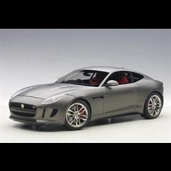 Jaguar F-Type 2015 R Coupe, matte grey - AUTOart 1:18 Diecast