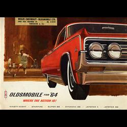 1964 OLDSMOBILE Full-line Sales Catalog-Brochure