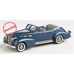 Cadillac Sixty Special Convertible 1938 Fairhaven Blue - Brooklin 1:43 Diecast