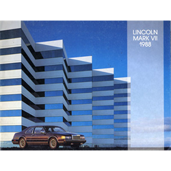 1988 LINCOLN Mark VII Sales Catalog-Brochure