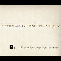 1959 LINCOLN Full-line Sales Catalog-Brochure
