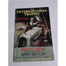 1935 International Trophy, Brooklands Program