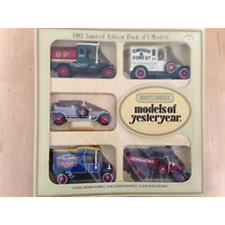 Models of Yesteryear 1982 Limited Edition Pack of 5 models Matchbox Diecast