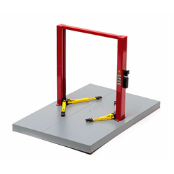 TWO POST LIFT  red with yellow platform -  1:18 Scale by Greenlight