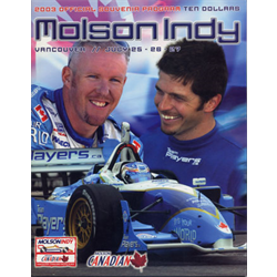 2003 Vancouver Indy Official Racing Program