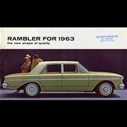 1963 AMC Rambler Sales Catalog-Brochure