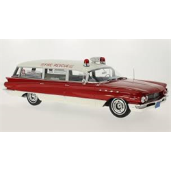Buick Flexible Premier red, white ambulance 1960 1:18 Resin Diecast model BoS