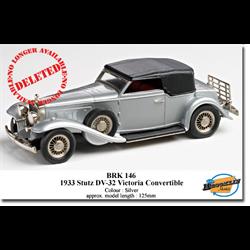 Stutz DV-32 Victoria Convertible 1933 silver - Brooklin 1:43 Diecast