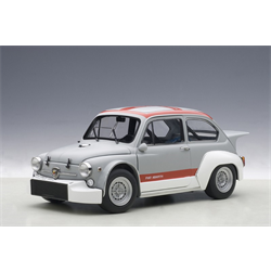 FIAT ABARTH 1000 TCR 1970 MATTE GREY/ WITH RED STRIPES - AUTOart 1:18 Diecast