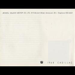 1968 CADILLAC Full-line Sales Catalog-Brochure