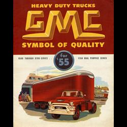1955 GMC Heavy Duty Trucks Sales Catalog-Brochure