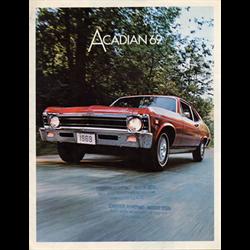 1969 GM Acadian Sales Catalog-Brochure