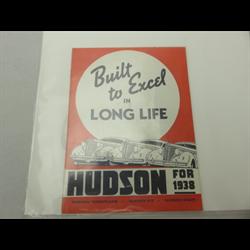 1938 Hudson Sales Catalog-Brochure