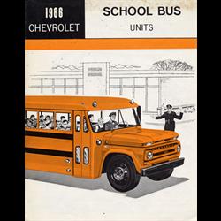 1966 CHEVROLET School Bus Units Sales Catalog-Brochure