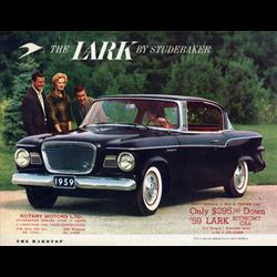 1959 STUDEBAKER Lark Hard-Top Sales Catalog-Brochure