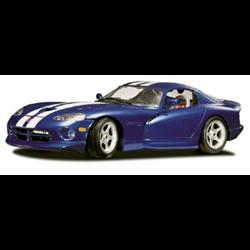 Dodge Viper GTS 1996 blue w/white stripe - BBURAGO 1:18 Diecast