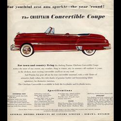 1952 PONTIAC Chieftain & Station Wagon Sales Catalog-Brochure