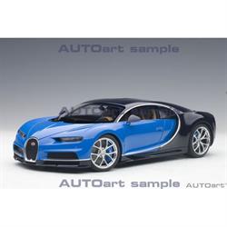 Bugatti Chiron 2017 French Racing Blue, Atlantic Blue AUTOart 1:18 Composite