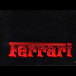 Ferrari 8-cylinder cars Press Kit 325/84 German 1984