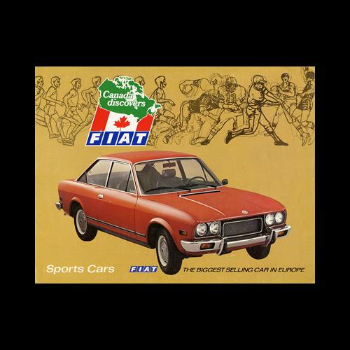 1970s FIAT Sports Cars Full-line Sales Catalogue-Brochure