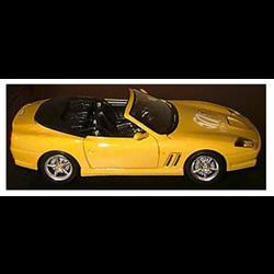 Ferrari 550 Maranello convertible yellow, 50th Year,118 Diecast by  MINIMINIERA