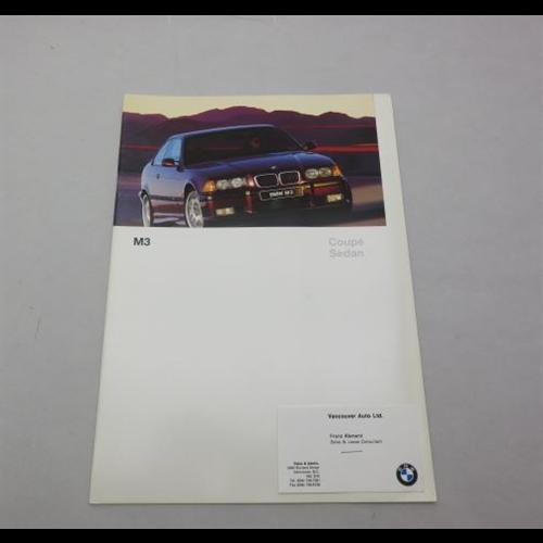 1997 Bmw M3: 1997 BMW M3 Coupe Sedan E36 Sales Catalog-Brochure